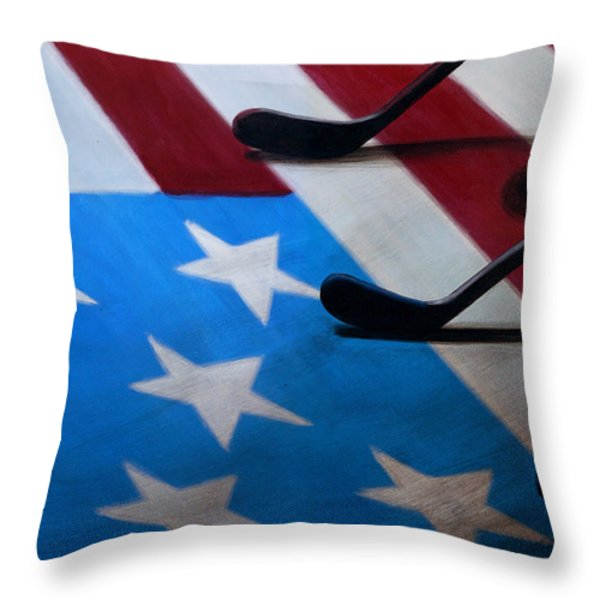Honoring America Throw Pillow by Marlon Huynh