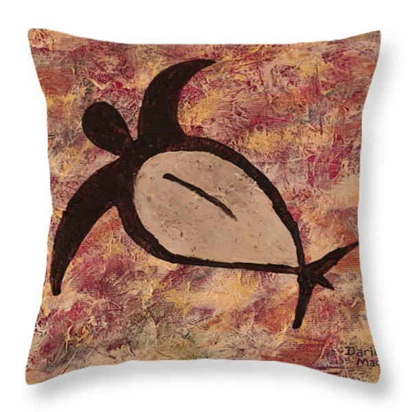 Honu Throw Pillow by Darice Machel McGuire