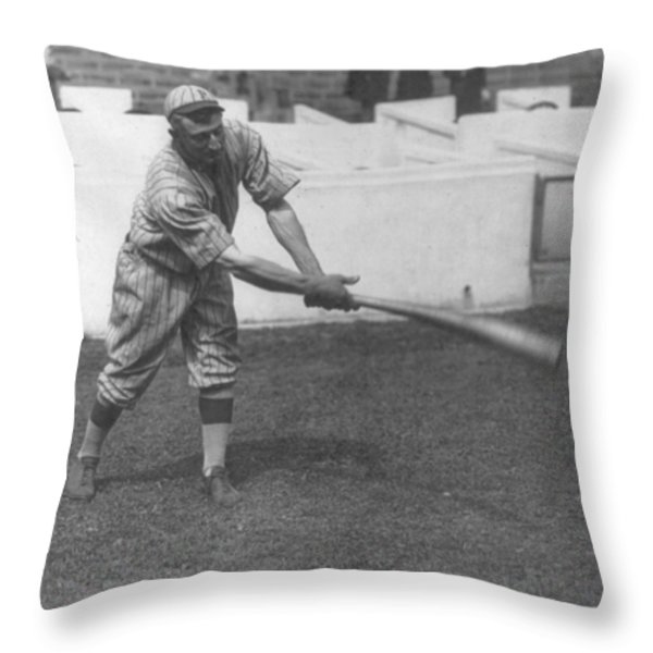 Honus Wagner Throw Pillow by Unknown
