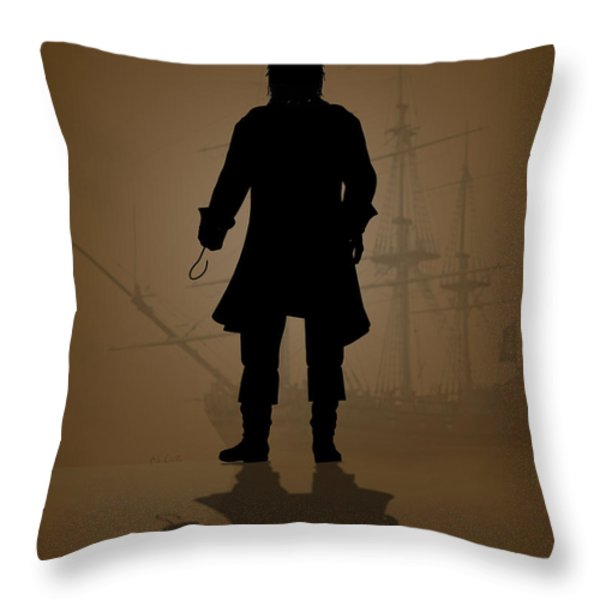 Hook Throw Pillow by Bob Orsillo
