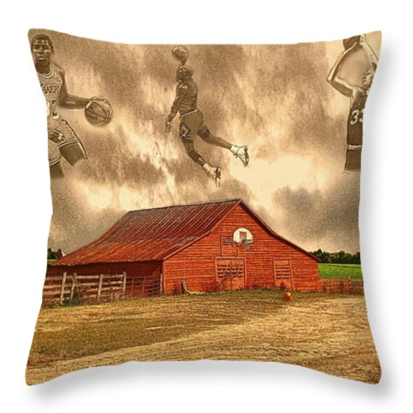 Hoop Dreams Throw Pillow by Charles Ott