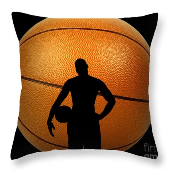 Hoop Dreams Throw Pillow by Cheryl Young