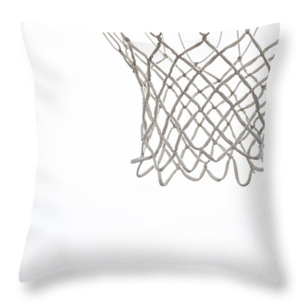 Hoops Throw Pillow by Karol  Livote