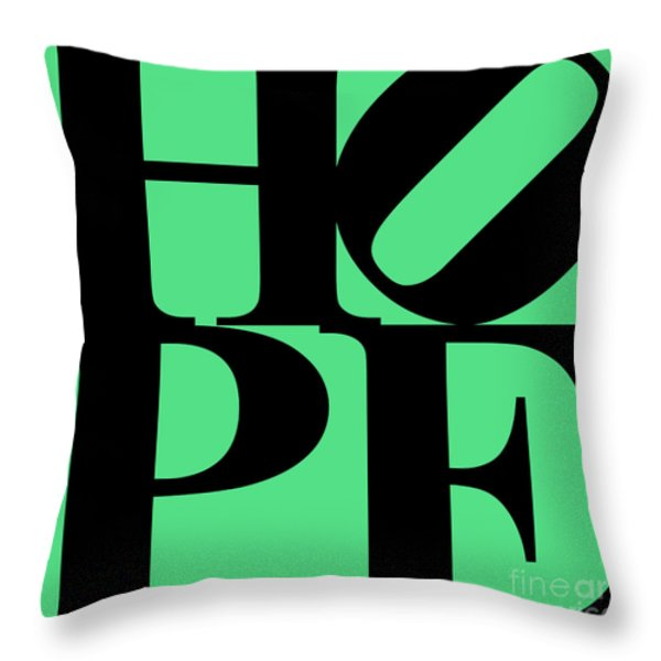 Hope 20130710 Black Green Throw Pillow by Wingsdomain Art and Photography