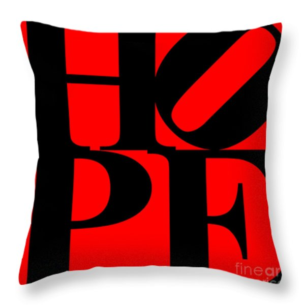 Hope 20130710 Black Red Throw Pillow by Wingsdomain Art and Photography