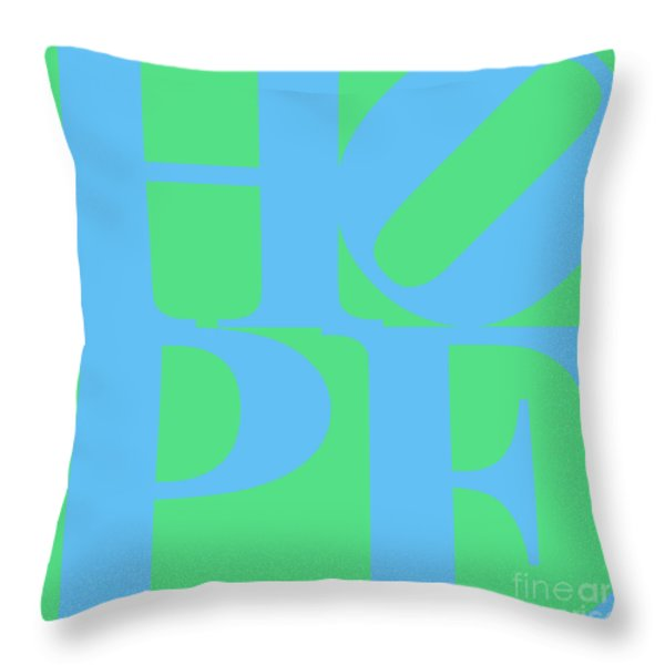 Hope 20130710 Blue Green Throw Pillow by Wingsdomain Art and Photography