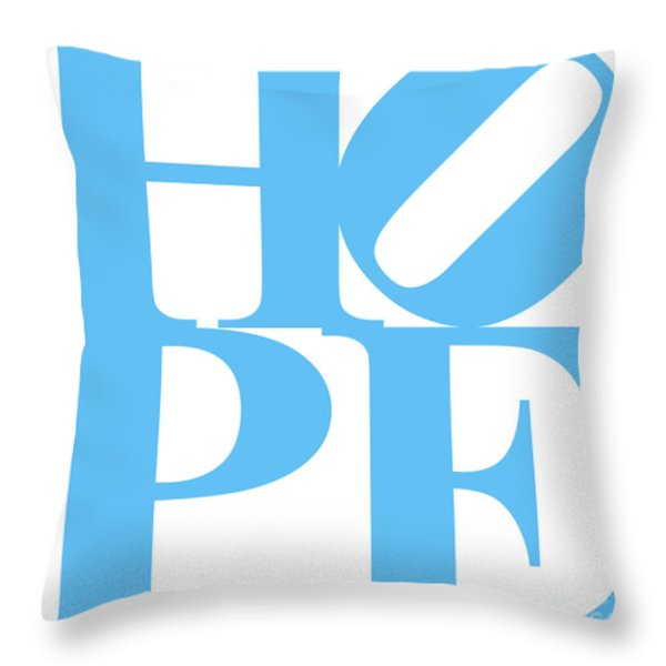 Hope 20130710 Blue White Throw Pillow by Wingsdomain Art and Photography
