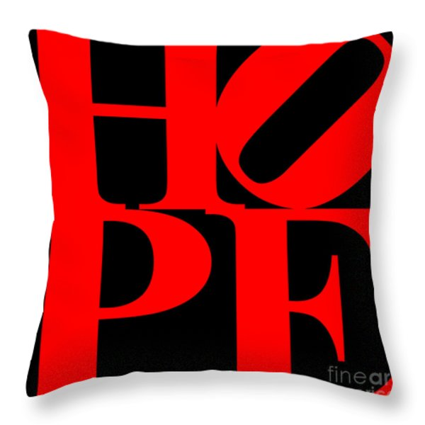 Hope 20130710 Red Black Throw Pillow by Wingsdomain Art and Photography