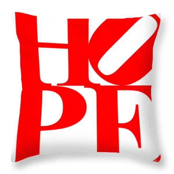 Hope 20130710 Red White Throw Pillow by Wingsdomain Art and Photography