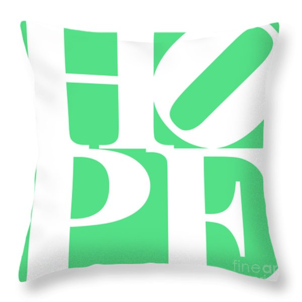 Hope 20130710 White Green Throw Pillow by Wingsdomain Art and Photography