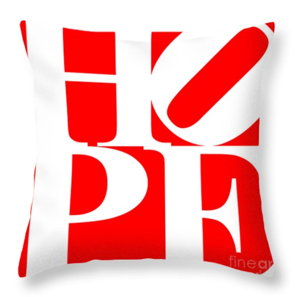 Hope 20130710 White Red Throw Pillow by Wingsdomain Art and Photography