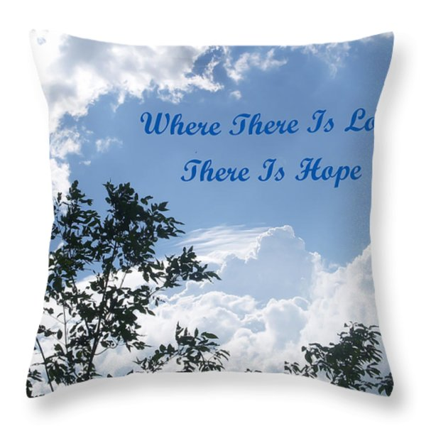 Hope Throw Pillow by Aimee L Maher Photography and Art