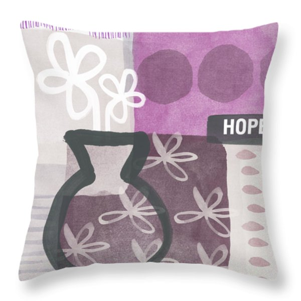 Hope- Contemporary Art Throw Pillow by Linda Woods