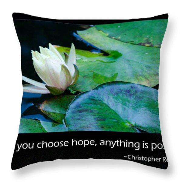 Hope Throw Pillow by Don Schwartz