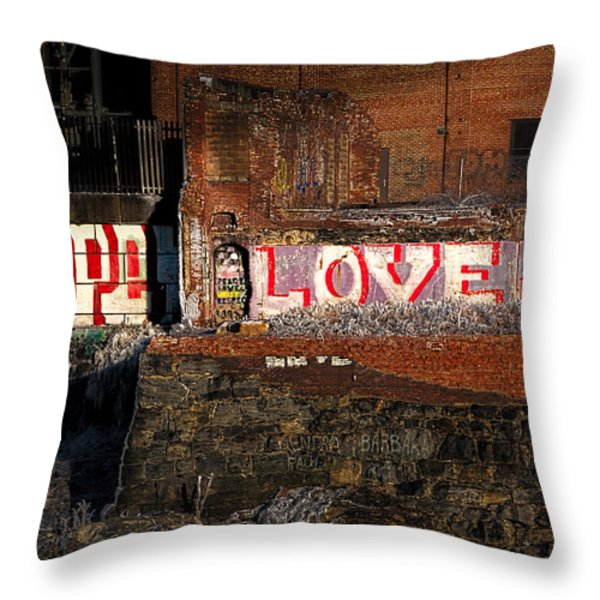 Hope Love Lovelife Throw Pillow by Bob Orsillo