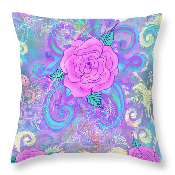 Hope Roses Throw Pillow by Alixandra Mullins