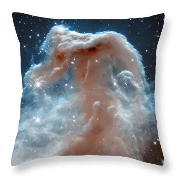 Horse Head Nebula Throw Pillow by The  Vault - Jennifer Rondinelli Reilly