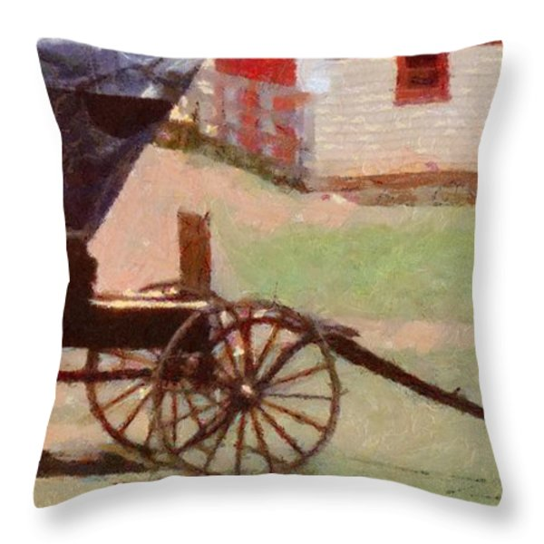 Horseless Carriage Throw Pillow by Jeff Kolker