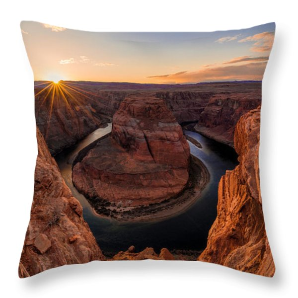Horseshoe Bend Throw Pillow by Chad Dutson