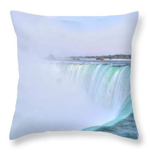 Horseshoe Falls Throw Pillow by Kathleen Struckle