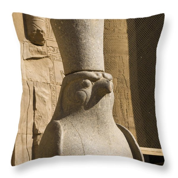 horus the Eagle Headed God Throw Pillow by Brenda Kean