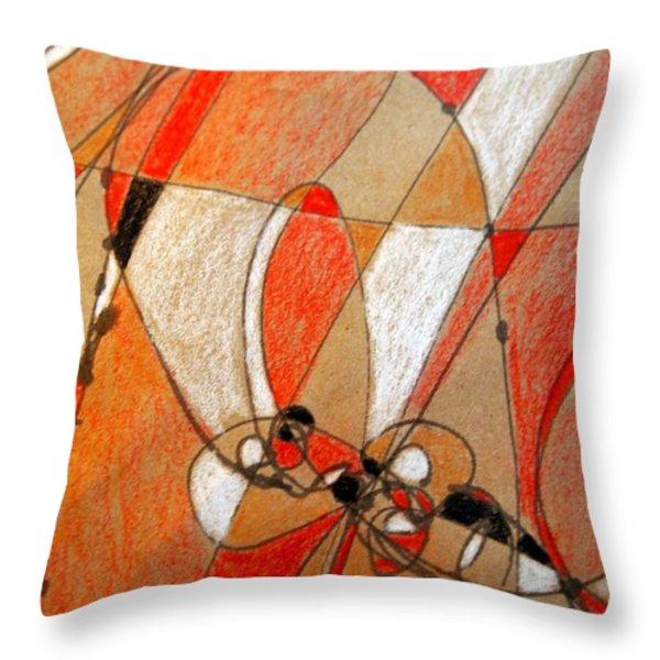 Hot Air Ballooning Throw Pillow by Nancy Kane Chapman
