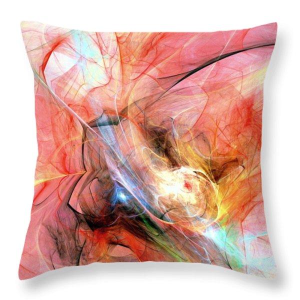 Hot Throw Pillow by Anastasiya Malakhova