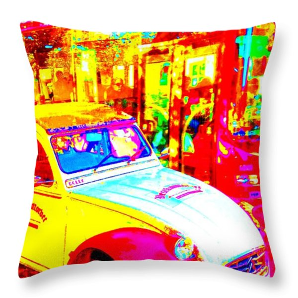Hot Avenue Throw Pillow by Hilde Widerberg