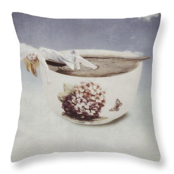 Hot Bath Throw Pillow by Joana Kruse