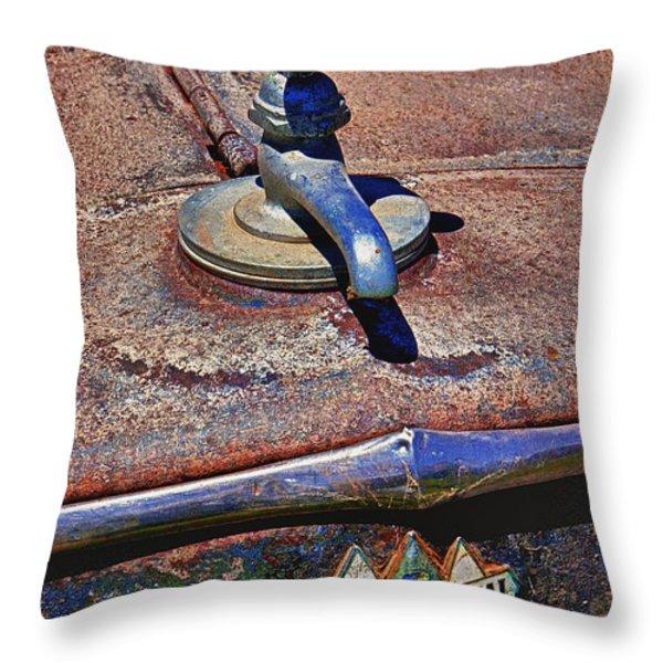 Hot faucet hood ornament Throw Pillow by Garry Gay