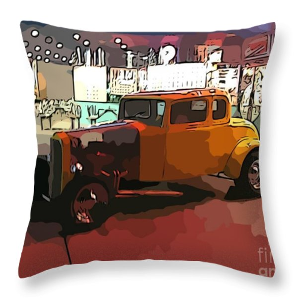 Hot Rod Icon Throw Pillow by John Malone