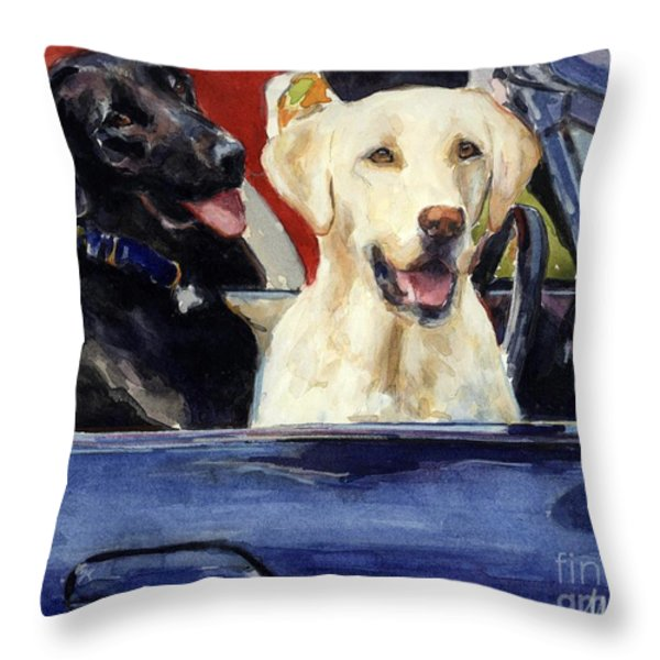 Hot Wheels Throw Pillow by Molly Poole