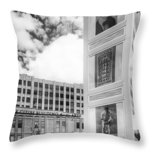 Houdini Plaza Throw Pillow by Thomas Young