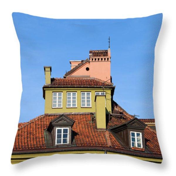 House Attic Throw Pillow by Artur Bogacki