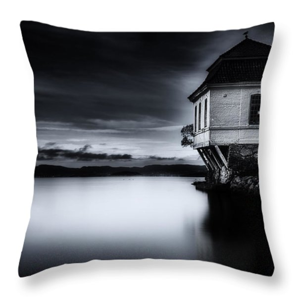 House By The Sea Throw Pillow by Erik Brede