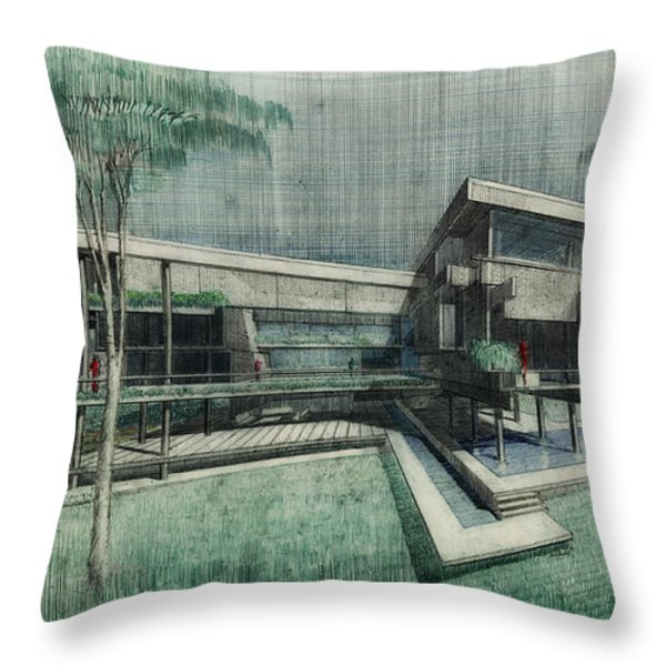 House Perspective 1981 Throw Pillow by Mountain Dreams