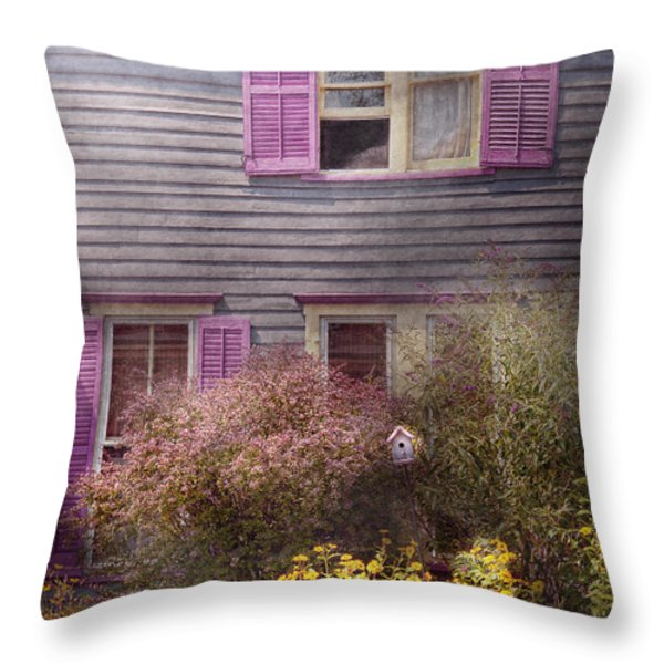 House - Victorian - A house to call my own  Throw Pillow by Mike Savad