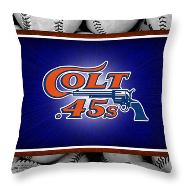 HOUSTON COLT 45's Throw Pillow by Joe Hamilton