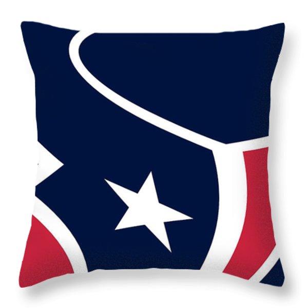 Houston Texans Throw Pillow by Tony Rubino