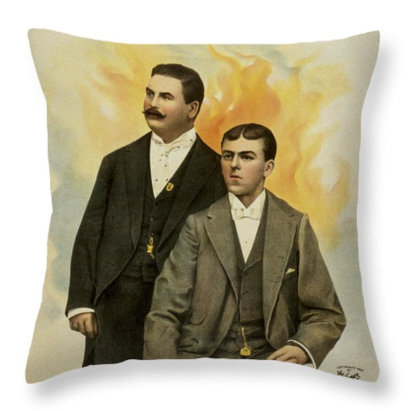 Howard And Stevens In Their Illustrated Songs Throw Pillow by Aged Pixel