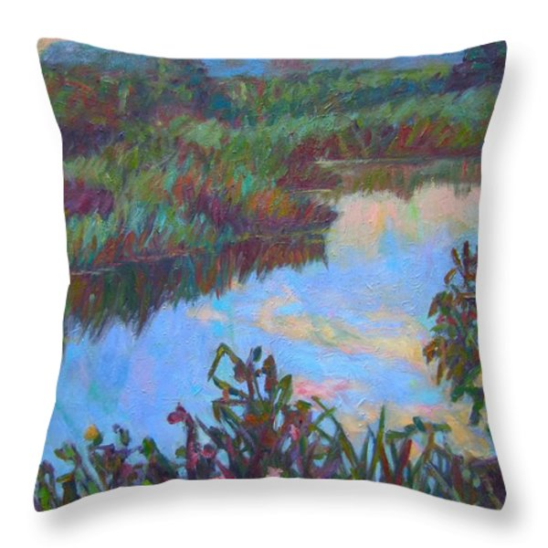 Huckleberry Line Trail Rain Pond Throw Pillow by Kendall Kessler