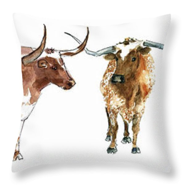 Huddle Up  Throw Pillow by Kathleen McElwaine