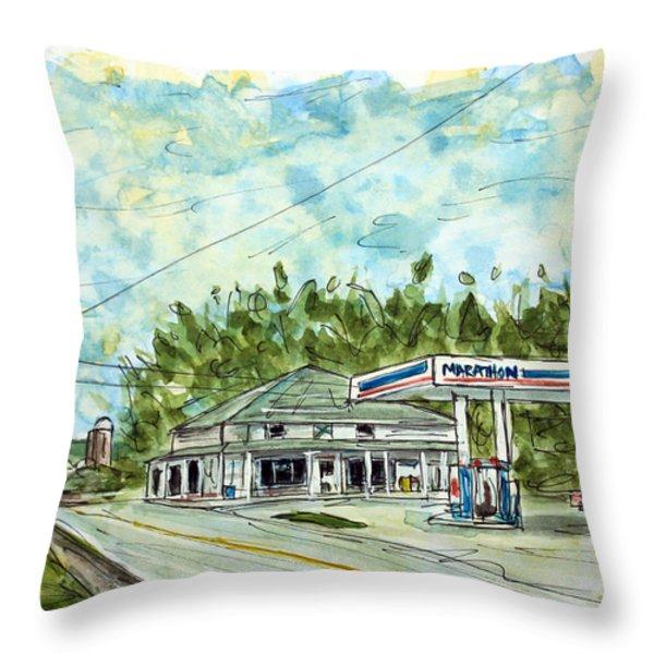 Huff's Market Throw Pillow by Tim Ross