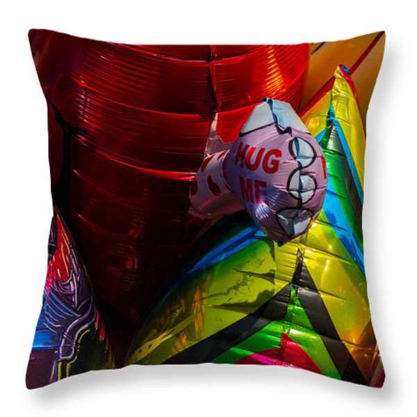 Hug Me - Featured 3 Throw Pillow by Alexander Senin