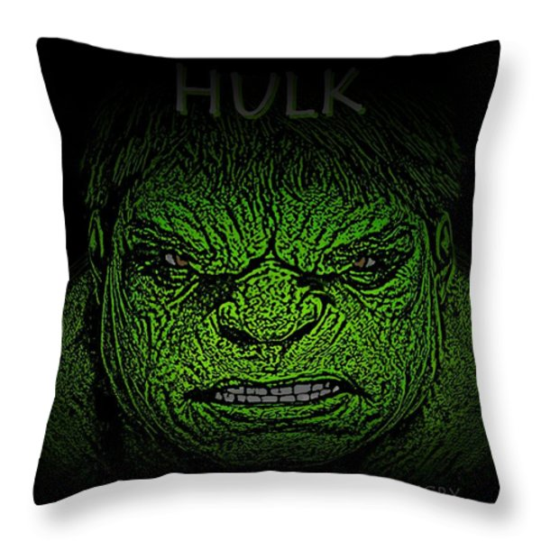 Hulk Custom  Throw Pillow by Movie Poster Prints