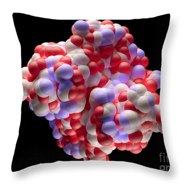 Human Hepatitis C Virus Throw Pillow by David Marchal