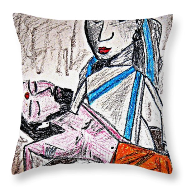Humanity Throw Pillow by Piety Dsilva