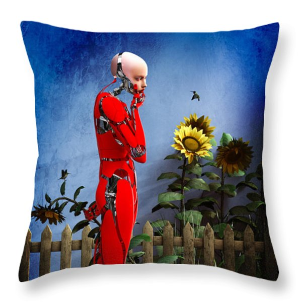 Hummingbirds Throw Pillow by Bob Orsillo