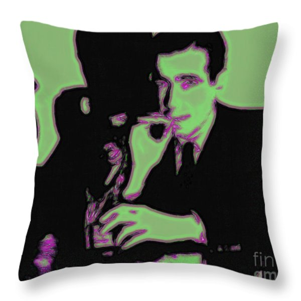 Humphrey Bogart and The Maltese Falcon 20130323 Throw Pillow by Wingsdomain Art and Photography