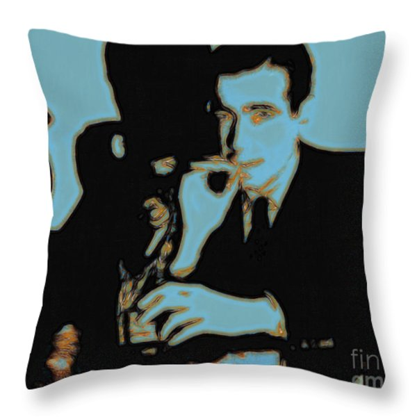 Humphrey Bogart and The Maltese Falcon 20130323p88 Throw Pillow by Wingsdomain Art and Photography